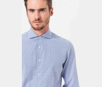 Hemd Trissio mit kleiner Waffelstruktur in Blau/Weiß