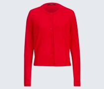 Merino-Feinstrick-Cardigan in Rot