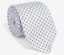 Krawatte mit Würfelmuster in Hellgrau