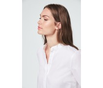 Oxford-Stehkragen-Bluse in Weiß