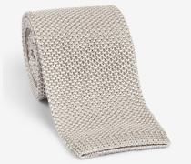 Melierte Strick-Krawatte in Beige
