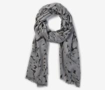 Print-Schal in Grau