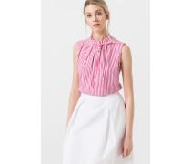 Gestreifte Bluse in Pink/Weiß