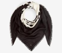 Tuch mit Kontrast-Muster in Schwarz/Weiß