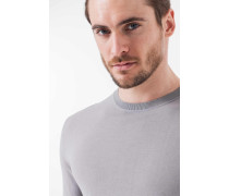 Feinstrick-Pullover Danio in Hellgrau