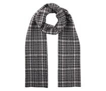 Wolle-Alpakamix-Schal in Schwarz-Ecru gemustert