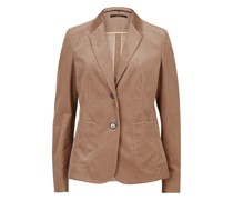 Cord-Blazer in Taupe