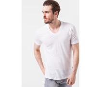 Leinen-Shirt Leone in Weiß