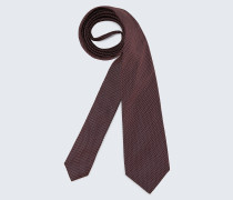 Seiden-Krawatte in Dunkelrot gemustert