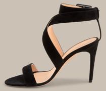 High-Heel-Sandale aus Ziegenleder by Unützer in Schwarz