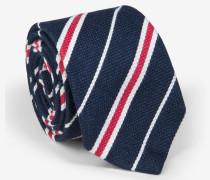 Gestreifte Krawatte in Marine/Rot