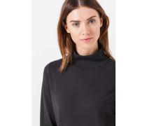 Strick-Pullover mit Blusen-Detail in Grau