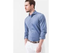 Jersey-Hemd Laze in Blau meliert