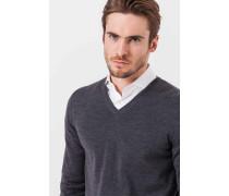 V-Neck-Pullover Marcello in Grau