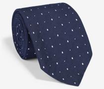 Krawatte mit kleinen Rauten in Marine
