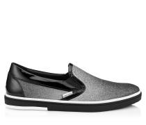 Grove Slip-On-Sneaker mit schwarz-silbernem Glitzer-Dégradé