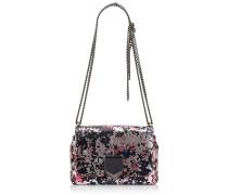 Lockett Petite Handtasche aus braunem und rosanem Leder in Metallic-Optik mit Print