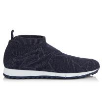 Norway/m Sneaker aus dunkelblauem Gewebe und Lurex