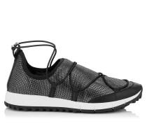 Andrea Sneaker mit Netzgewebe in Metallic-Optik