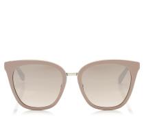 Fabry Cat-Eye Sonnenbrille aus nudefarbenem Acetat mit Glitzerdetails