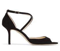 Emsy 85 Sandaletten aus glattem schwarzen Wildleder