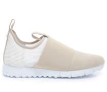 Oakland/m Sneaker aus grau-beigem Wildleder und Stretch-Meschgewebe