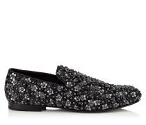 Sloane Mokassin mit schwarzen Nietenblumen