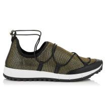 Andrea Sneaker aus goldenem Netzgewebe in Metallic-Optik