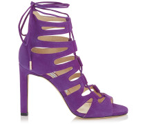 Hitch 100 Sandalen mit Riemen aus violettem Wildleder