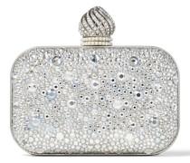 Micro Cloud Minitasche aus kristallverziertem Wildleder mit kuppelförmiger Kristallschnalle