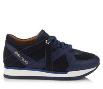 London Sneaker aus dunkelblauem Flanell