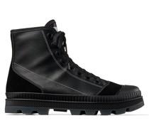 Nord/m Hohe Sneaker aus schwarzem Nappaleder und Crosta-Wildleder