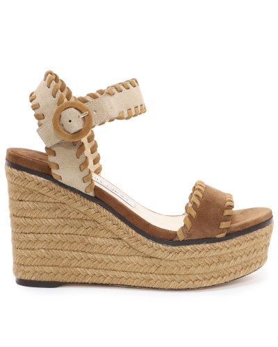 Abigail 100 Wedges aus Wildleder in Natur Mix mit Nahtdetails