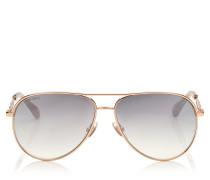 Jewly Aviator-Sonnenbrille in Gold und Kupfer