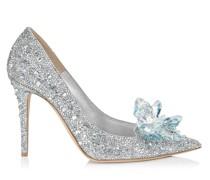 Cinderella 100 Spitze 'Cinderella' Pumps mit Kristallverzierung.