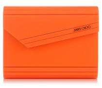 Candy Abend-Clutch aus orangenem Neon-Acryl
