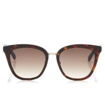 Fabry Cat-Eye Sonnenbrille aus braunem Acetat mit Glitzerdetails