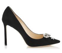 Jasmine 100 Stiefeletten aus weichem schwarzen Leder mit Nietendetails