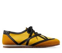 Kato/m Sneaker aus Crosta-Wildleder in hellem Whisky, schwarzem Kalbsleder und Nylon