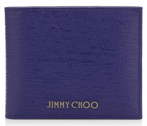 Mark Portemonnaie aus blauem Print-Leder