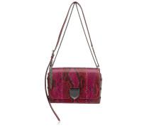 Lockett City Handtasche aus bemaltem Python mit Dégradé in Kirsche und Rot