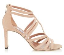 Selina 85 Sandalen aus Wildleder in Ballettrosa