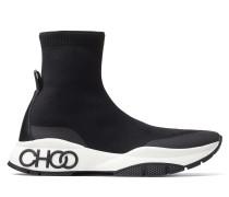 Raine Sock/m High-Top-Sneakers aus schwarzem Strickstoff mit Stretchanteil und integrierter Socke