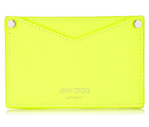 Liza Shocking Yellow Matt Neon Calf Card Wallet