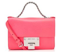 Rebel Soft Mini Umhängetasche aus rosanem genarbten Ziegenleder