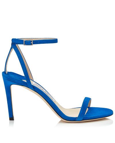 Minny 85 Sandaletten aus Wildleder in elektrischem Blau