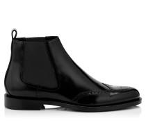 Angus Boots aus schwarz glänzendem Kalbsleder