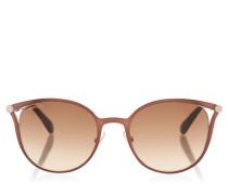 Neiza Sonnenbrille mit braunem Gestell und Lederdetails