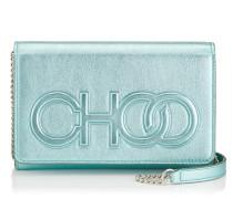 Sonia Mini-Tasche aus Nappaleder in Platin mit Metallic-Optik