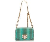 Lockett Petite Handtasche aus Schlangenleder in Smaragdgrün mit Kristallverschluss